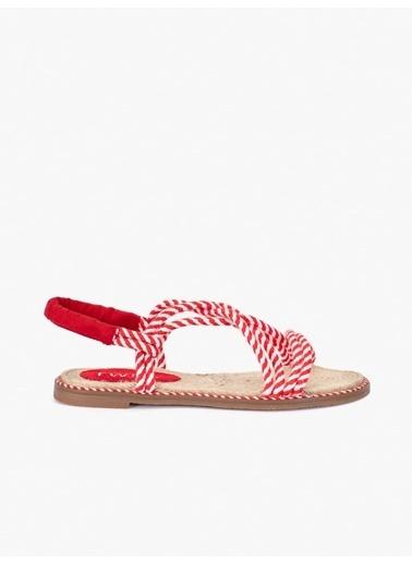 Twist Sandalet Kırmızı